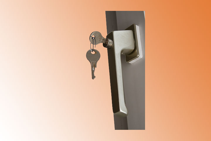 Sicherheit, Einbruchschutz, abschließbarer Fenstergriff