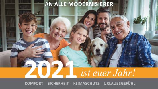 AN ALLE MODERNISIERER - 2021 ist Euer Jahr!